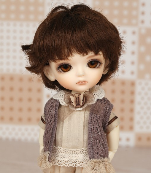 1/8 scale BJD about 15cm pop BJD/SD cute kid yellow miel Resin figure doll DIY Model Toy gift.Not included Clothes,shoes,wig