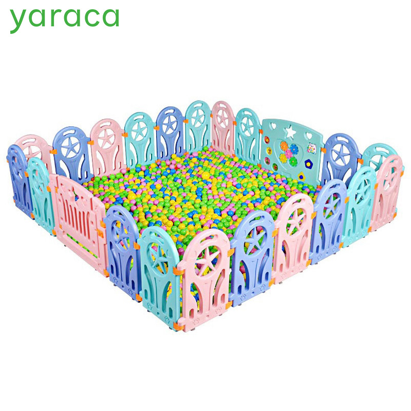Baby Playpen Plastic Fence Safety Protector Kids Safety Barriers Fencing For Children Indoor Game Play Yard Playpen Baby Fence