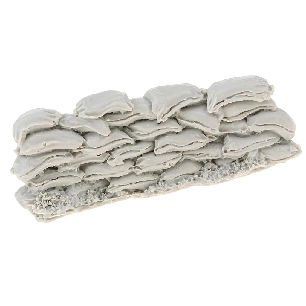 1//35 Resin Sandbag Wall Model /&20pcs Resin Skeleton Scenario Skull Model Kit