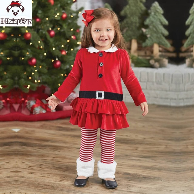 Toddler Girl Clothing Sets 2018 Autumn Girls Clothes Set Christmas  T-shirt+Pant Kids - Toddler Girl Clothing Sets 2018 Autumn Girls Clothes Set Christmas T