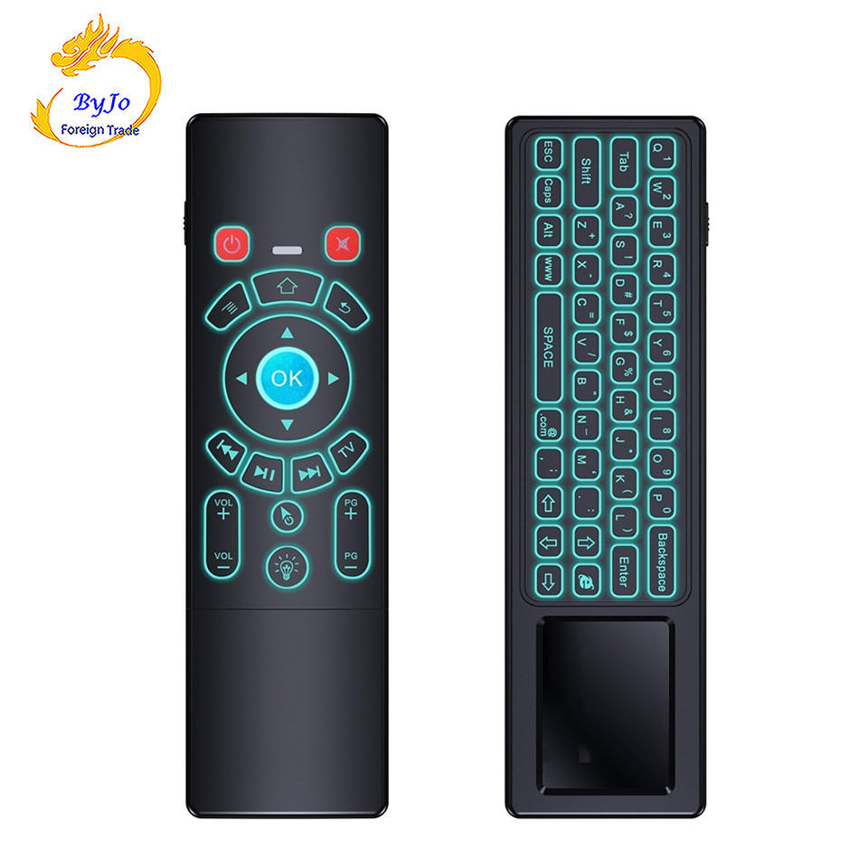 T6 Air mouse with Wireless Keyboard With backlit touchpad Remote Control for Smart TV Android TV Box mini PC HTPC Projector original t2 air mouse 2 4g wireless mini keyboard 3d sense motion remote controller t2 air mouse for android smart tv box pc