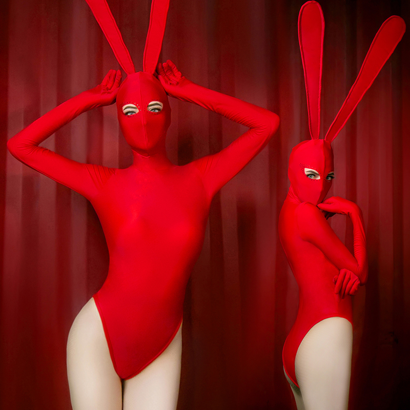 2019 New Jazz Dance Costumes Women Bunny Girl Bodysuit Costume Sexy Singer Female Dj Ds Gogo Birthday Stage Outfits Show Clothes
