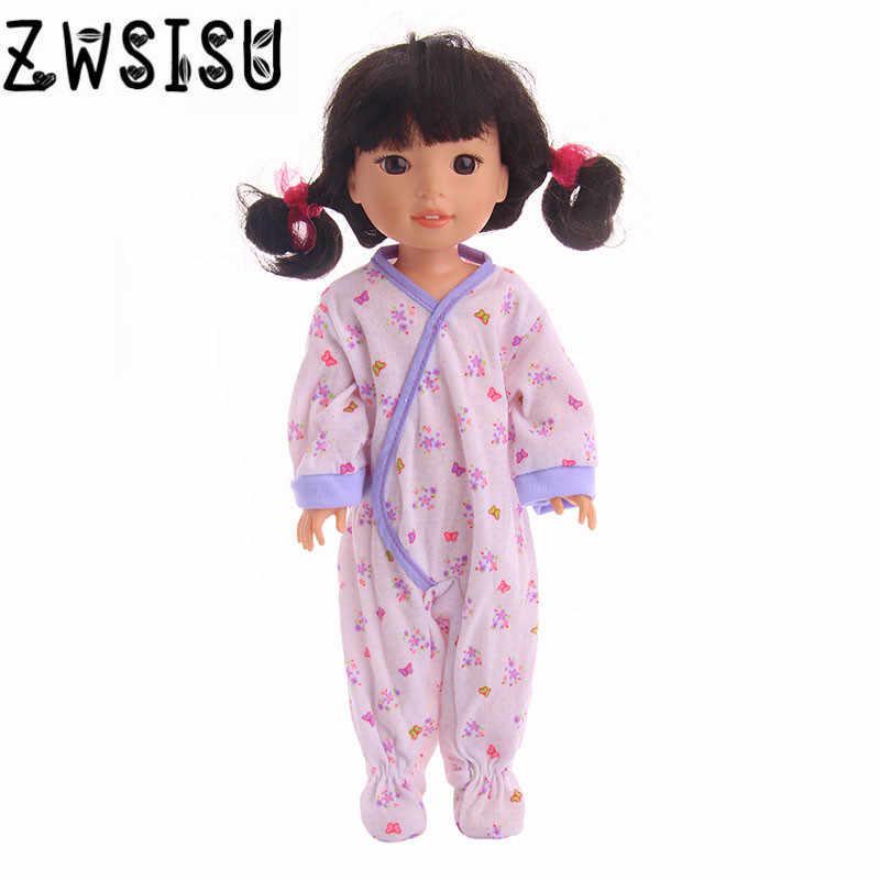 שינה חמודה בגדים, מתאים fit 14.5 inch בובות, נותן הילד הטוב שלך שינה בובות,