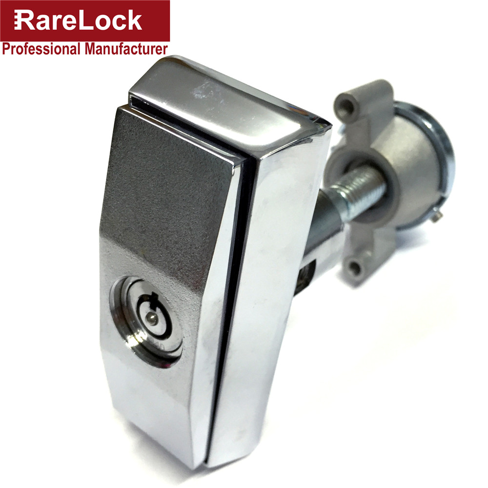 Rarelock Excellent Quality Manufacture Zinc Alloy Vending Handle Locks Chrome For Door Lock Cerradura g top designed 1pcs t handle vending machine locks snack vending machine lock tubular locks with 3pcs keys