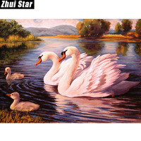 New Modern Art Painting Diy 5D Diamond Painting Resin Full Square Diamond Embroidery Swan Home Decor