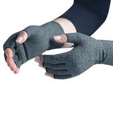 A Pair/Set Comfortable Men Women Therapy Compression Gloves Solid Color Breathable Arthritis Joint Pain Relief Gloves