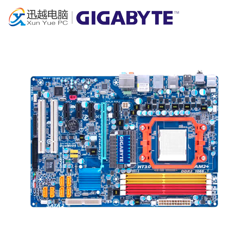 Gigabyte GA-MA770-DS3P Desktop Motherboard MA770-DS3P 770 Socket AM2 DDR2 SATA2 USB2.0 ATX for gigabyte ga ma78g ds3hp original used desktop motherboard for amd 780g socket am2 for ddr2 sata2 usb2 0 atx