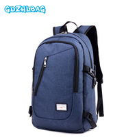 GDZHLBAG Canvas Men S Anti Theft Backpack Bag USB Charge 15 6 Inch Laptop Notebook Backpack