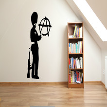 2014 New Banksy Wall Decal  Anarky Sticker Vinyl Art Home Decors