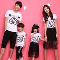 2016 family matching clothes mother father baby family look mother daughter dresses father and son outfits t-shirts