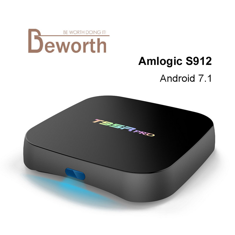T95R PRO Android 7.1 Smart TV Box Amlogic S912 Octa Core 2GB 16GB Dual Band WiFi MINI PC BT4.0 UHD 4K H.265 IPTV 3D Media Player цены