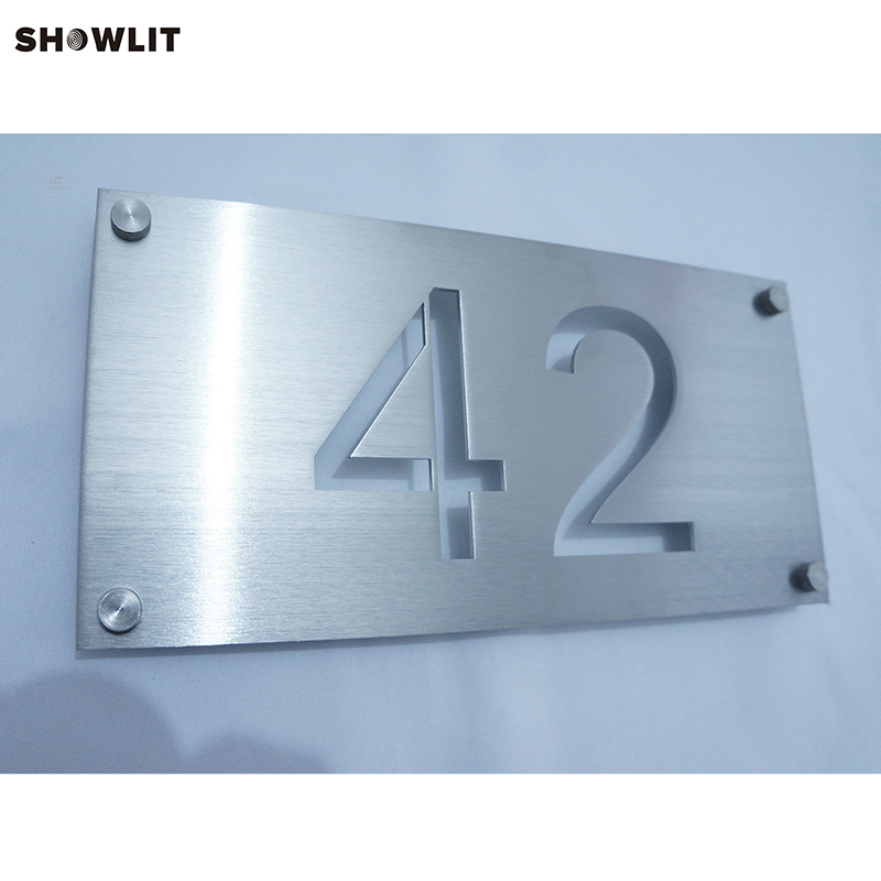 Outdoor Weather proof Brushed Stainless Steel Engraved Office Signs Custom Made AvailableOutdoor Weather proof Brushed Stainless Steel Engraved Office Signs Custom Made Available