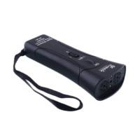 Ultrasonic Dog Chaser Aggressive Attack Repeller Trainer LED Flashlight Useful