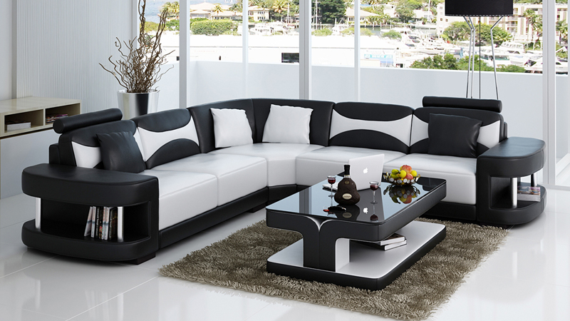 Modern Italian Style Corner Wooden Sofa Set Designs 0413 F3001 In Living Room Sofas From Furniture On Aliexpress