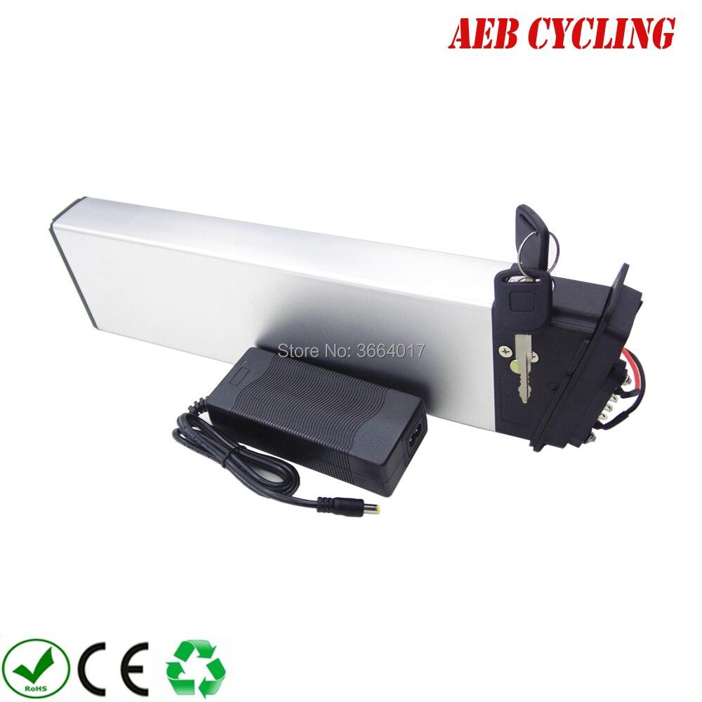 Agli ioni di Litio ad alta capacità pieghevole bici batteria 36 V 14.5Ah argento cassa di batteria per city bike pieghevole ebike con il caricatore