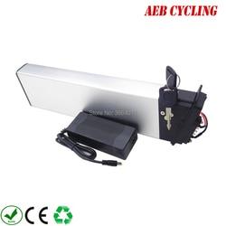Akumulator rower składany o dużej pojemności 36V 14.5Ah akumulator litowo-jonowy srebrny futerał na rower miejski składany ebike z ładowarką