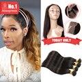 360 Laço Frontal Com Pacote Pré Arrancadas Malibu Dollface Wiggins Cabelo Cheia Do Laço do Cabelo Virgem Brasileiro Em Linha Reta 22.5*4*2