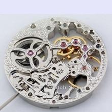17 宝石銀色のフル巻 6497 ムーブメントフィットパーニスメンズ腕時計