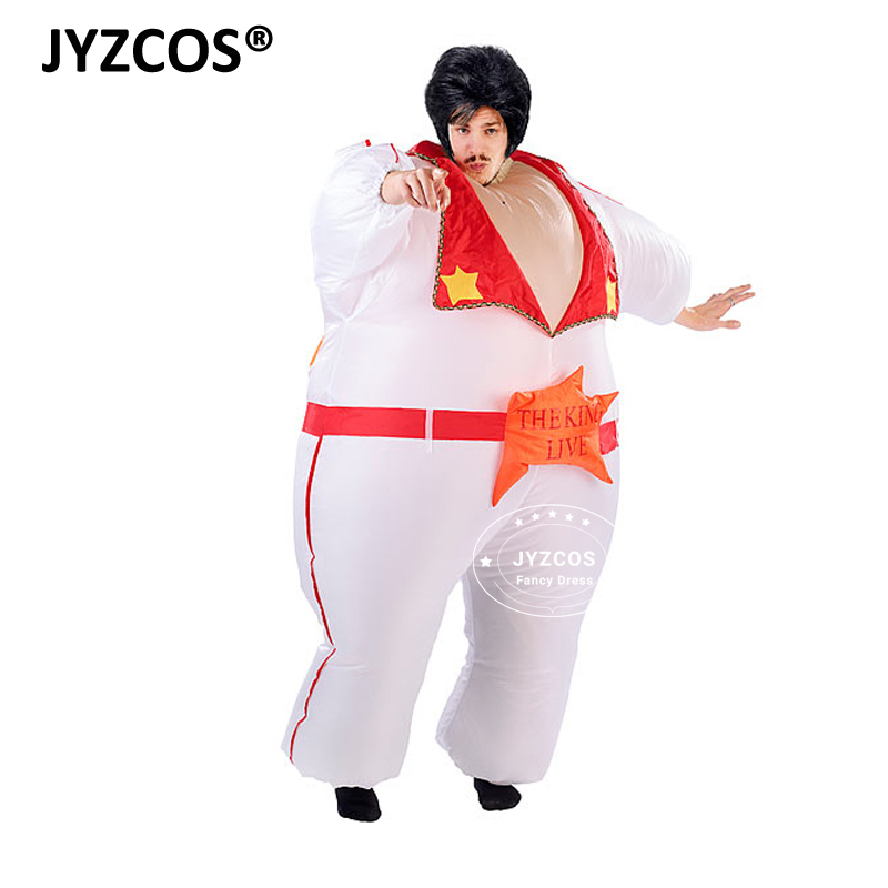 Elvis Presley Singer The King of Rock and Roll Inflatable Costume for Cosplay Halloween Stage Performance Masquerade Party