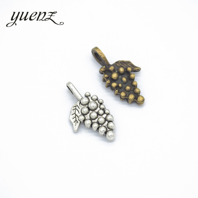 YuenZ 15pcs fashion alloy jewelry grape charms metal pendant diy Jewelry Accessories K12