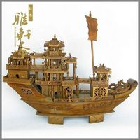 TZ Zhai Mahogany Crafts Ornaments Large 62 Cm Verawood Woodcarving Everything Is Going Smoothly Mahogany