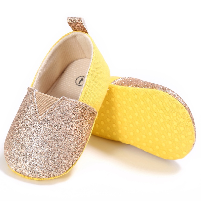 New Baby Girls Spring Sequin Patchwork Infant Fashion Shallow Toddler Kids Anti-skid Casual First Walkers Shoes P1