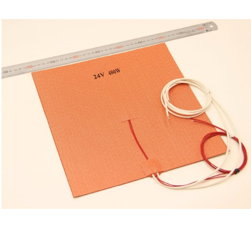30X30CM12V 24V 400W Silicone Heater Huge size 300x300mm for Reprap 3D Printer Heated Bed Pad with