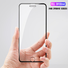 Full Coverage Protective Glass On the For iPhone 6 6S 7 8 Screen Protector Tempered Plus Film