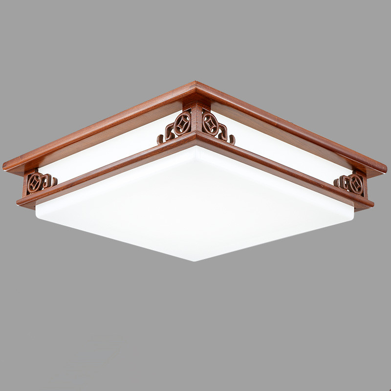 asian chinese style ceiling lamp led mahogany finish wood lights ceiling lamps for home bedroom modern decorations oriental lamp asian style lighting