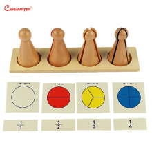 3-6 Years Kids Preschool Teaching Aids Montessori Math Toys Training Material Learn Wooden Toy Fraction Skittles Games MA013-3