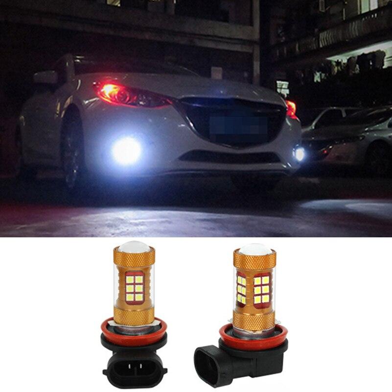 2pcs White Car LED Light LED 28W 12V H8 H11 Light Bulb Auto Fog Light Driving Lamp Light For Mazda 3 5 6 CX-5 CX-9 MX-5 Miata ...