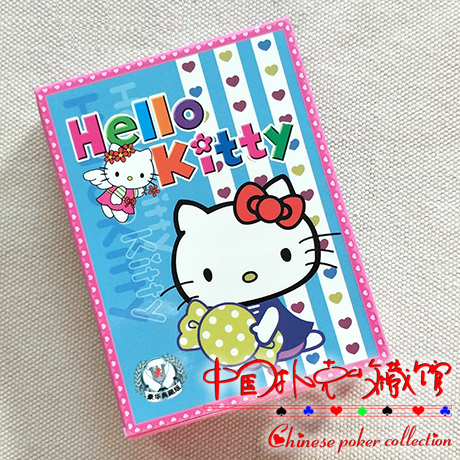 New Cutely Cartoon HELLO KITTY Paper Poker Playing Cards For Collection