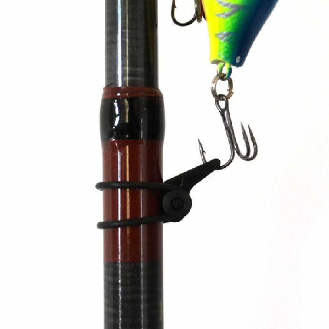1ピースハングフックロッド釣り竿ルアースプーン餌高音ホルダーシャックル岩ラフティング釣りアクセサリー