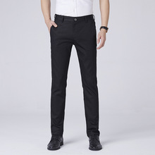 2019 Formal Men Pants Summer Big Size Straight Regular 95% Cotton Casual Trousers