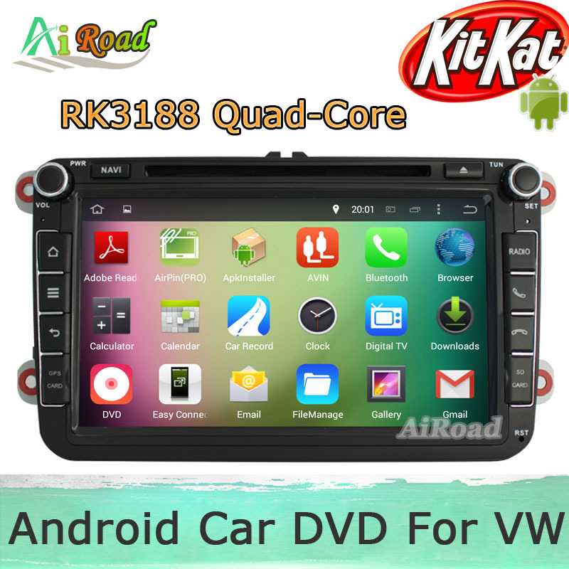 RK3188 Quad Core 1024*600 Android 4.4 Kitkat Car DVD For