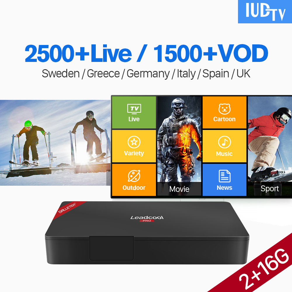 UK Swedish IPTV Subscription Leadcool Pro 1 Year IUDTV IPTV Code S905X TV Box Android IPTV Germany Greece Spain Italy IP TV CodeUK Swedish IPTV Subscription Leadcool Pro 1 Year IUDTV IPTV Code S905X TV Box Android IPTV Germany Greece Spain Italy IP TV Code