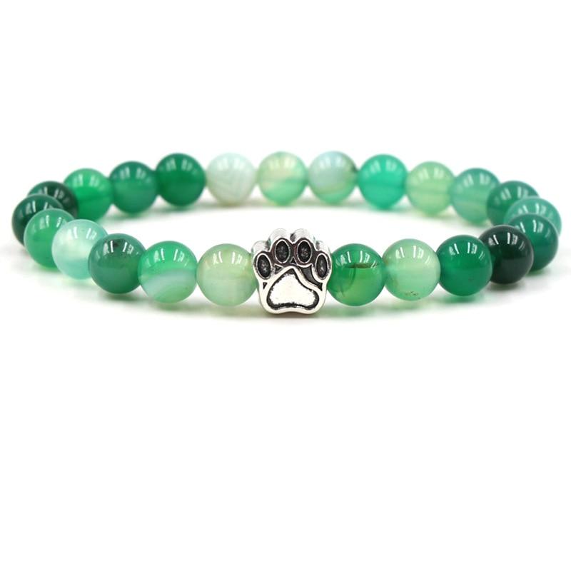 7 Colors Dog or Cat Paw Print Bracelet