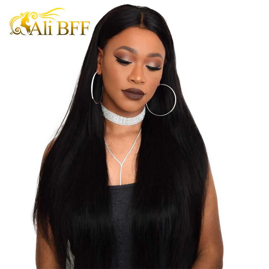 ALI BFF 9A cabello brasileño paquetes rectos cabello humano tejido 3 piezas enviar un cierre gratis cabello Remy brasileño recto pelo de la onda