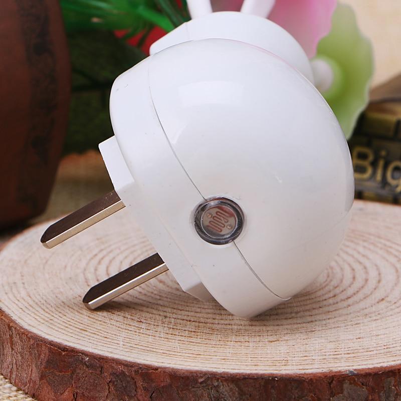 Купить с кэшбэком Sensor Night Light Plum Blossom Flower LED Lamp US Plug 220V Romantic Home Decor