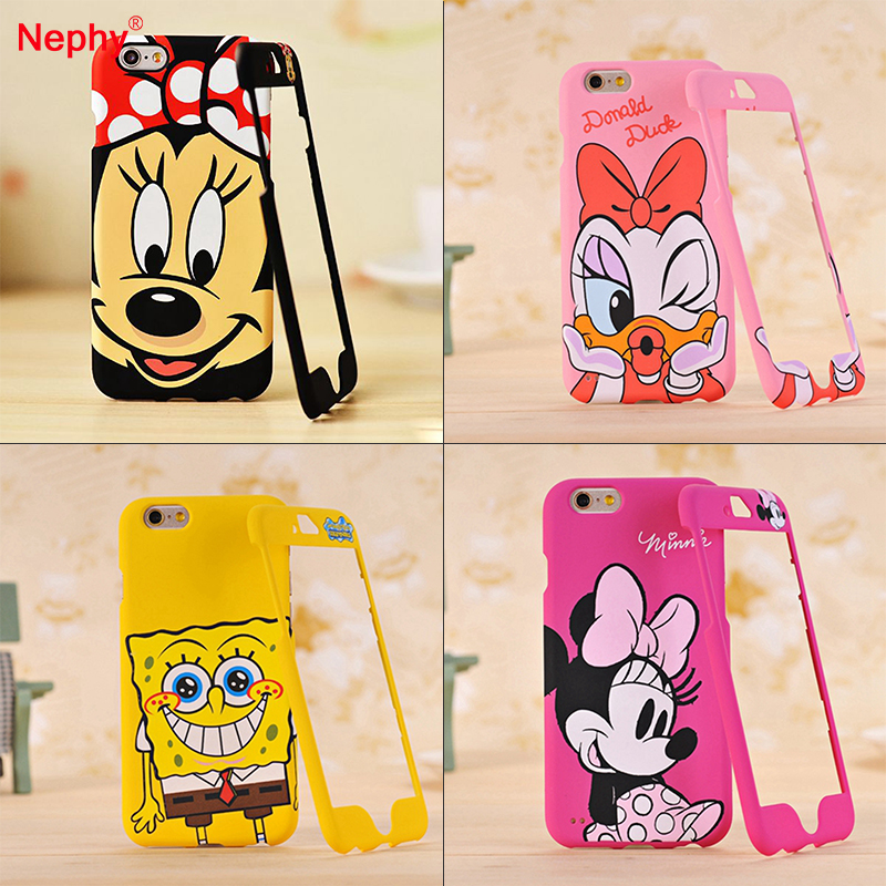 Nephy <font><b>Phone</b></font> Case For iPhone 7 <font><b>7S</b></font> 360 Degree Full Protection Cover Housing Bag Hard Plastic High Quality Cartoon Pattern Coque