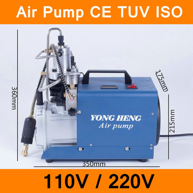 High Pressure Air Pump 110V 220V 300BAR 30MPA 4500PSI Water-cooled Electrical Air Compressor for Airgun Scuba Rifle PCP Inflator