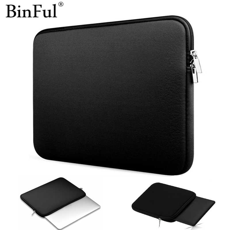 Binful Soft Laptop Sleeve Bag Rits Notebook Case Tablet Cover 7.9 9.7 11 13 14 15 Inch Voor Ipad Kindle macbook Air Pro Retina