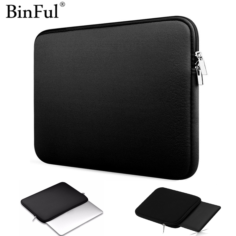 Binful Soft Laptop Sleeve Bag Zipper Notebook Case Tablet Cover 7.9 9.7 11 13 14 15 Inch For Ipad Kindle Macbook Air Pro Retina