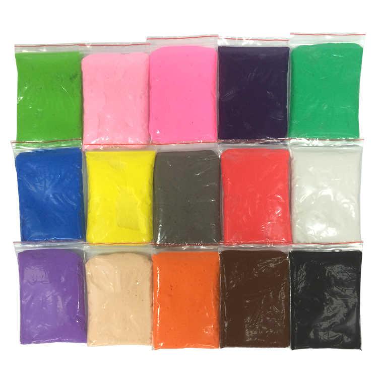 Slime 3D Soffice Schiuma di Modellazione di Argilla 16 Colori Solidi Plastilina Sfera Kit No Borace Istruzione FAI DA TE Antistress Giocattoli per bambini