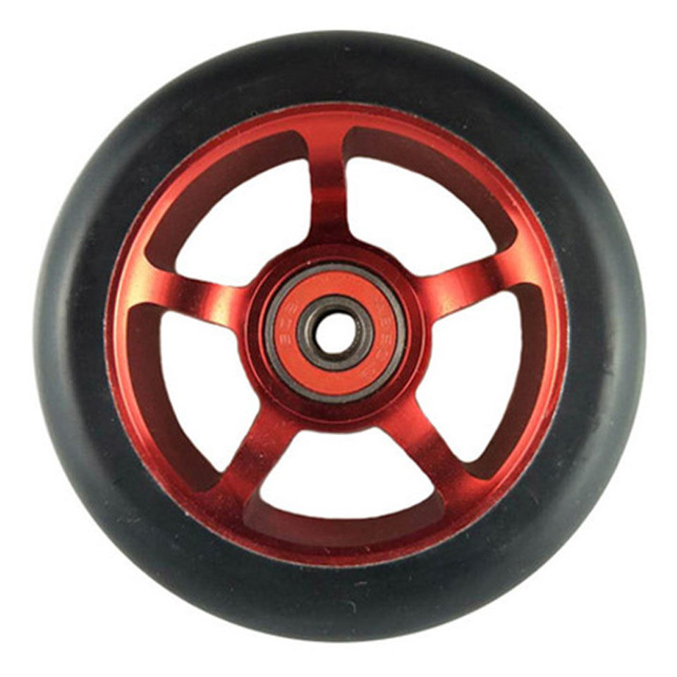 2 pieces/lot 88A 100mm Scooter Wheel Aluminium Alloy Steel Hub High Elasticity and Precision speed skating Skateboard wheel A103