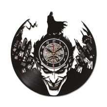 Reloj de pared con motivo de Batman en vinilo, con y sin luces LED