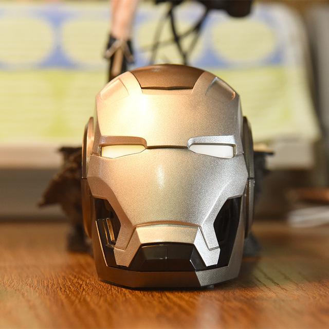 Altavoces Móvil Bluetooth Portátil Iron Man Altavoz Bluetooth Subwoofer Radio FM
