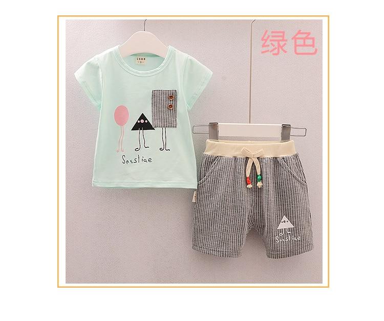 295b6fc80ca7f ⃝2018 new summer bébé vêtements d été enfants vêtements ensembles ...