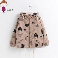 Hot Coat For Boys Girl 2017 New Spring Autumn Jacket Baby Girl Cartoon Image Hooded Jacket