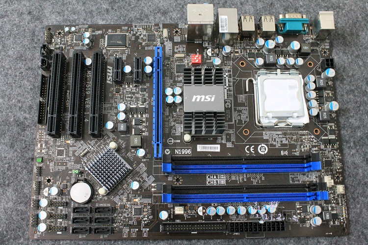 ФОТО Used  original for MSI P43T-C51 LGA 775 DDR2 16GB Gigabit Ethernet ATX p43 desktop motherboard Free shipping